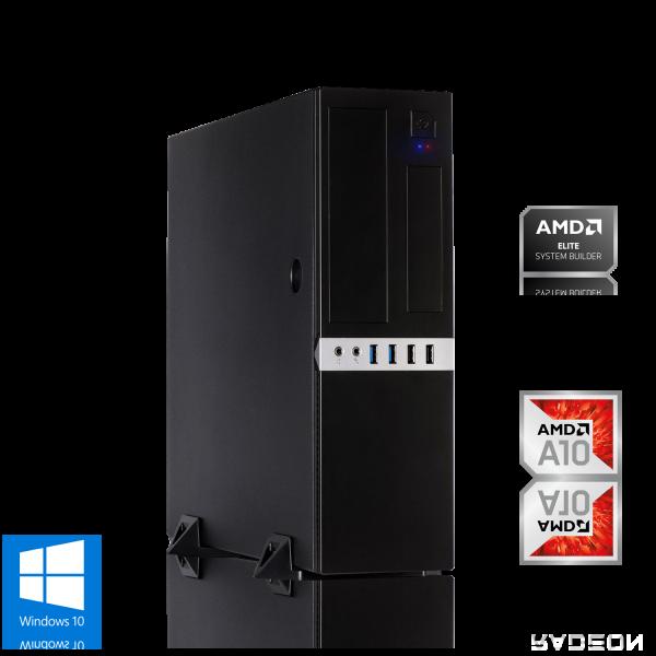 MINI PC AMD A10-9700 4x 3.80GHz | 4GB DDR4 | Radeon R7 | 120GB SSD | Win 10 Home