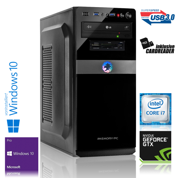 High End Gaming Intel Core i7, NVIDIA GTX 1060 6GB, 240GB & 1000GB