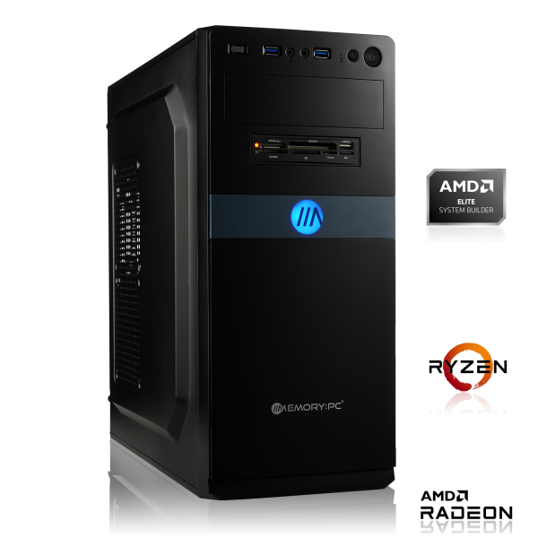 OFFICE PC AMD Ryzen 3 2200G 4x3.5GHz | 8GB DDR4 | Radeon Vega 8 | 120 GB HDD