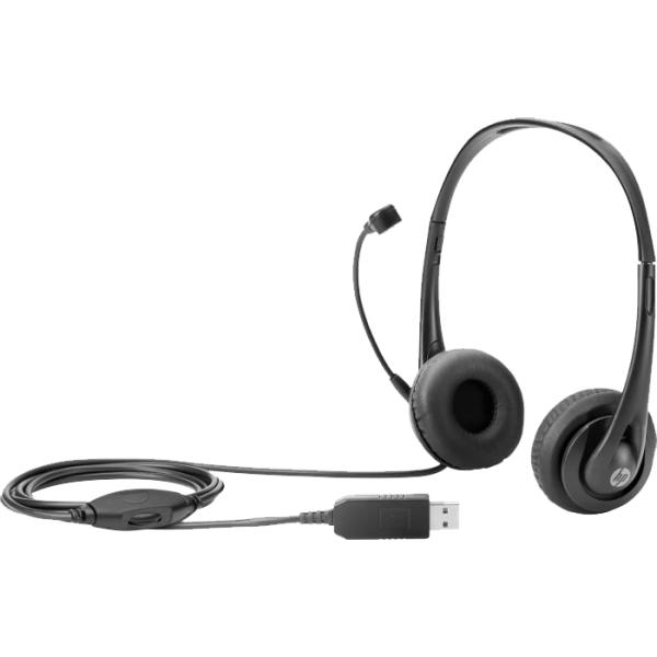HP Stereo Headset Chat & Business mit Mikrofon, 3.5mm Klinke Anschluss
